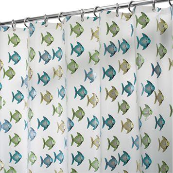 Fishy PEVA Shower Curtain