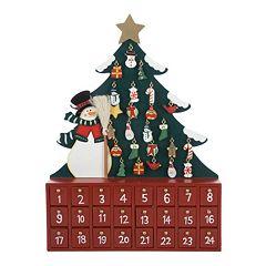Kurt S. Adler Snowman & Tree Christmas Advent Calendar