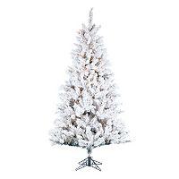 Kurt S. Adler 7 1/2-ft. Pre-Lit Flocked Norway Pine Artificial Christmas Tree