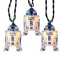 Kurt Adler 10-Light Star Wars R2D2 Christmas Light Set