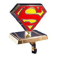 DC Comics Superman Logo Christmas Stocking Hanger by Kurt Adler