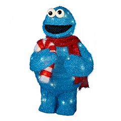Kurt Adler 50-Light 28-in. Tinsel Christmas Cookie Monster