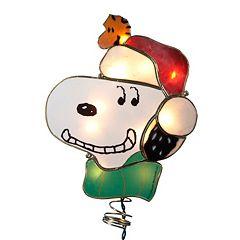 Kurt Adler Pre-Lit Snoopy Christmas Tree Topper