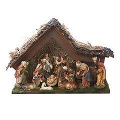 Kurt Adler Muscial LED Christmas Nativity Scene