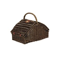 Household Essentials 24 pc Wicker Picnic Basket Set