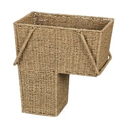 Household Essentials Wicker Stair Basket