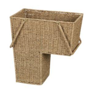 Household Essentials Wicker Stair Basket