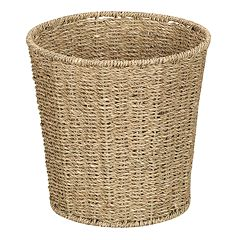 Household Essentials Seagrass Wicker Wastebasket