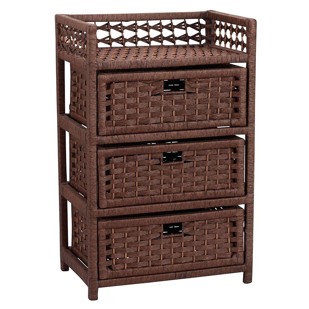 Household Essentials 3-Drawer Wicker Storage Chest