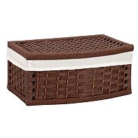 Household Essentials Wicker Lined Storage Basket