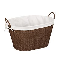 Household Essentials Lined Wicker Laundry Basket