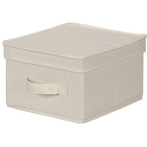 Household Essentials Canvas Storage Box - Medium