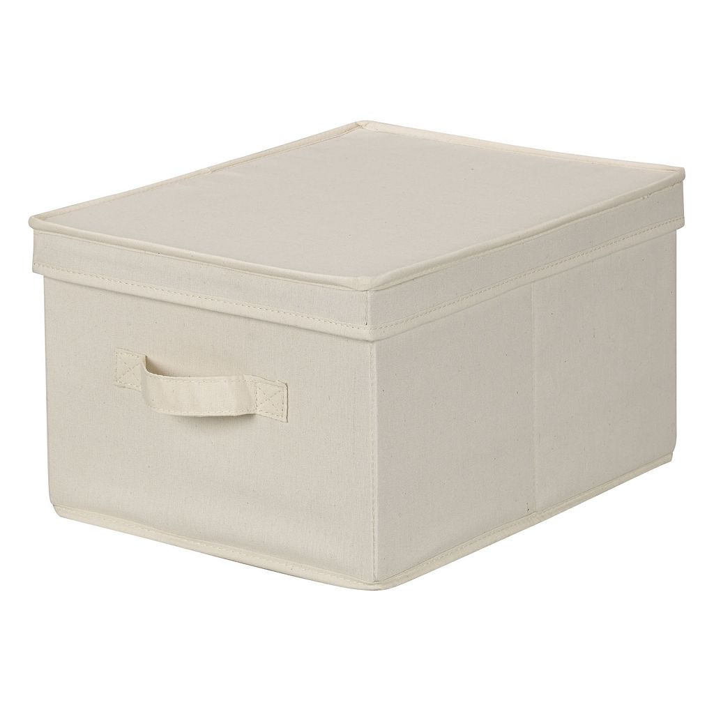 Household Essentials Canvas Storage Box - Large