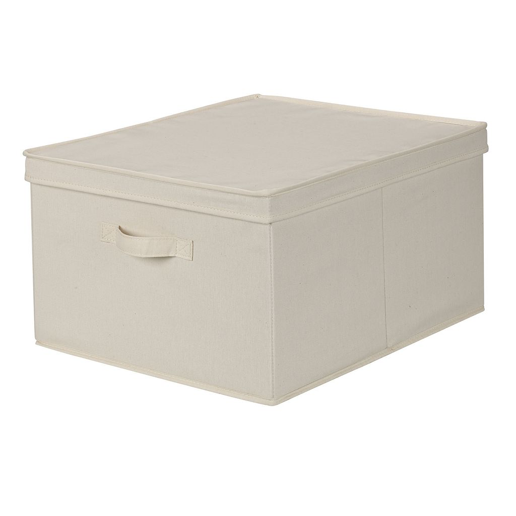 Household Essentials Canvas Storage Box - Jumbo