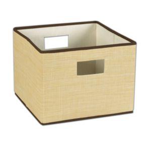 Household Essentials Tan Wicker Storage Bin