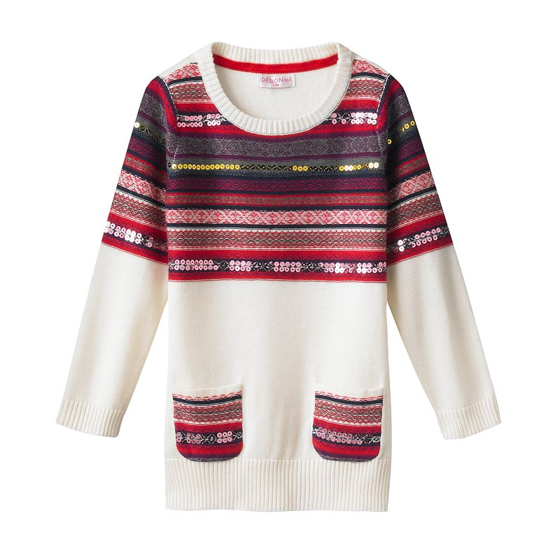 Design 365 Fairisle Sweater - Girls 4-6x