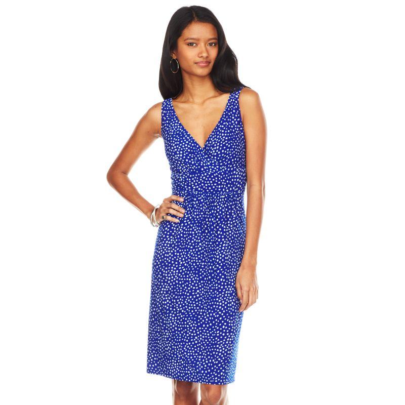Unique Chaps Ruched KnotFront Dress  Women39s Plus