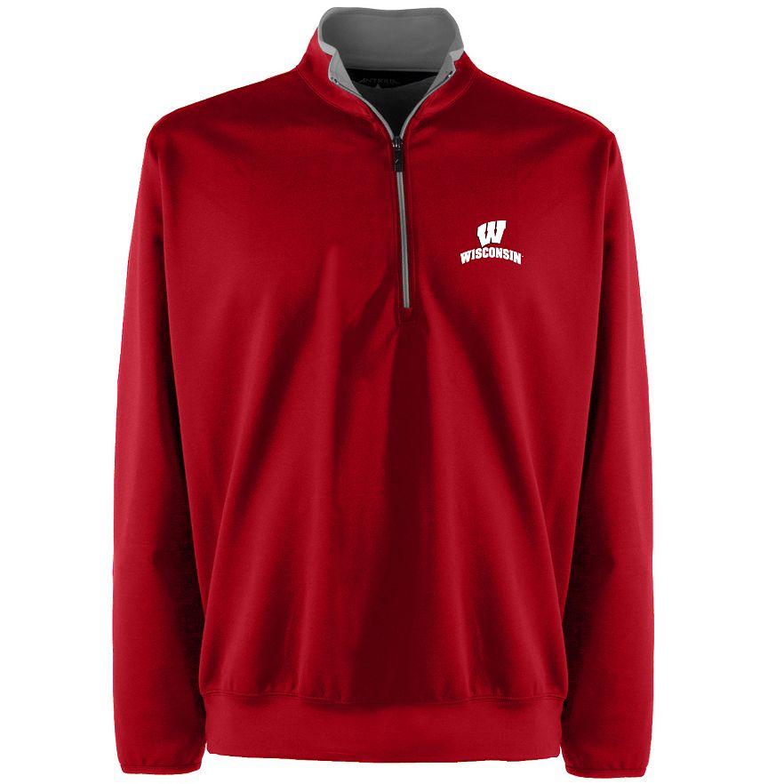 Wisconsin Badgers Colosseum Playbook 1//4 Zip Fleece Sweatshirt