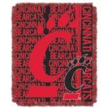 Cincinnati Bearcats Jacquard Throw Blanket by Northwest