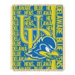 Delaware Blue Hens Jacquard Throw Blanket by Northwest
