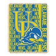 Delaware Blue Hens Jacquard Throw Blanket by Northwest