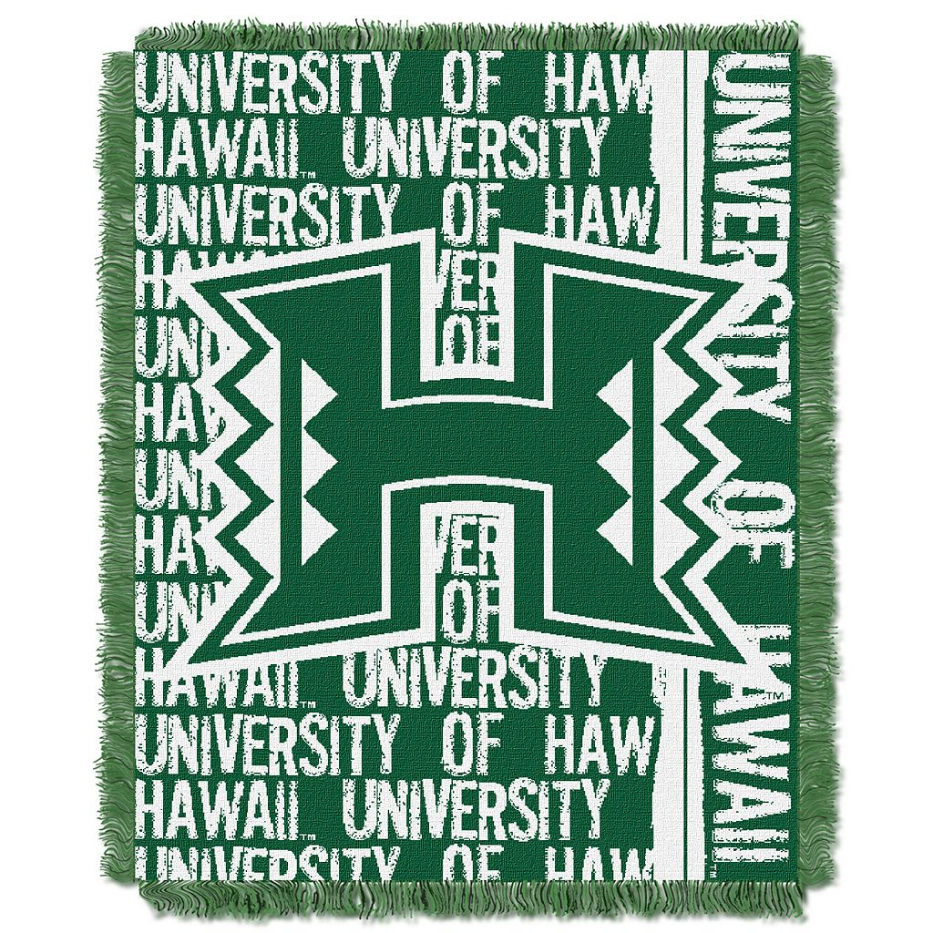 Hawaii Warriors Jacquard Throw Blanket by Northwest
