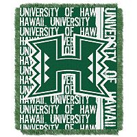 Hawaii Warriors Jacquard Throw Blanket by Northwest