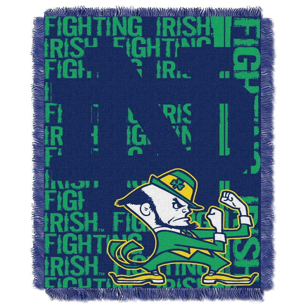 Notre Dame Fighting Irish Jacquard Throw Blanket by Northwest