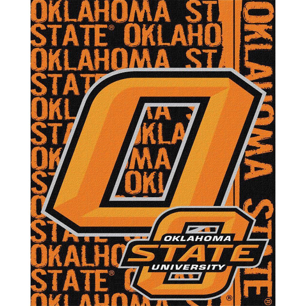 Oklahoma State Cowboys Jacquard Throw Blanket by Northwest