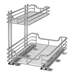 Glidez Sliding 2 tier Under-Sink Organizer
