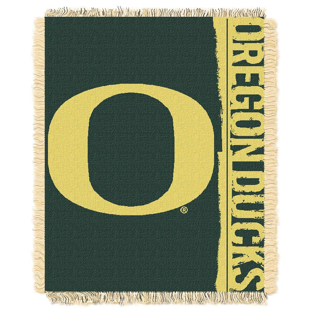 Oregon Ducks Jacquard Throw Blanket by Northwest
