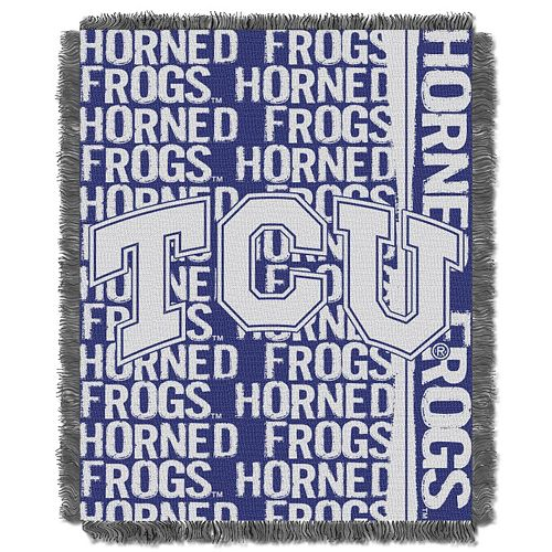 TCU Horned Frogs Jacquard Throw Blanket by Northwest