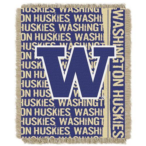 Washington Huskies Jacquard Throw Blanket by Northwest