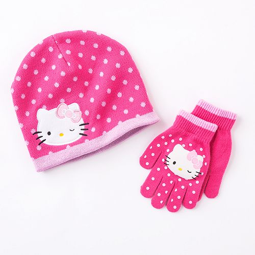 b00b40c2e98 Hello Kitty® Hat   Gloves Set - Girls