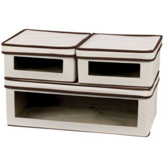 Household Essentials Vision 3-pc. Lidded Storage Box Set