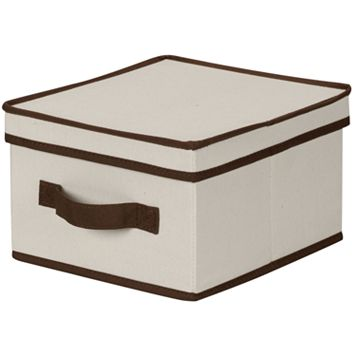 Household Essentials Medium Two-Tone Lidded Storage Box