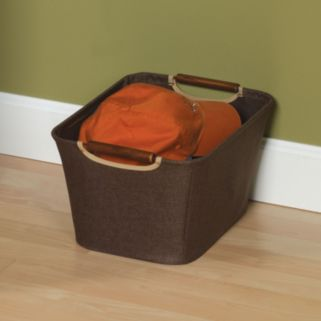 Household Essentials Small Open Tapered Storage Bin