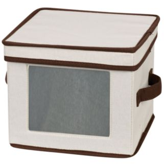 Household Essentials China Dessert Plate and Bowl Lidded Storage Chest