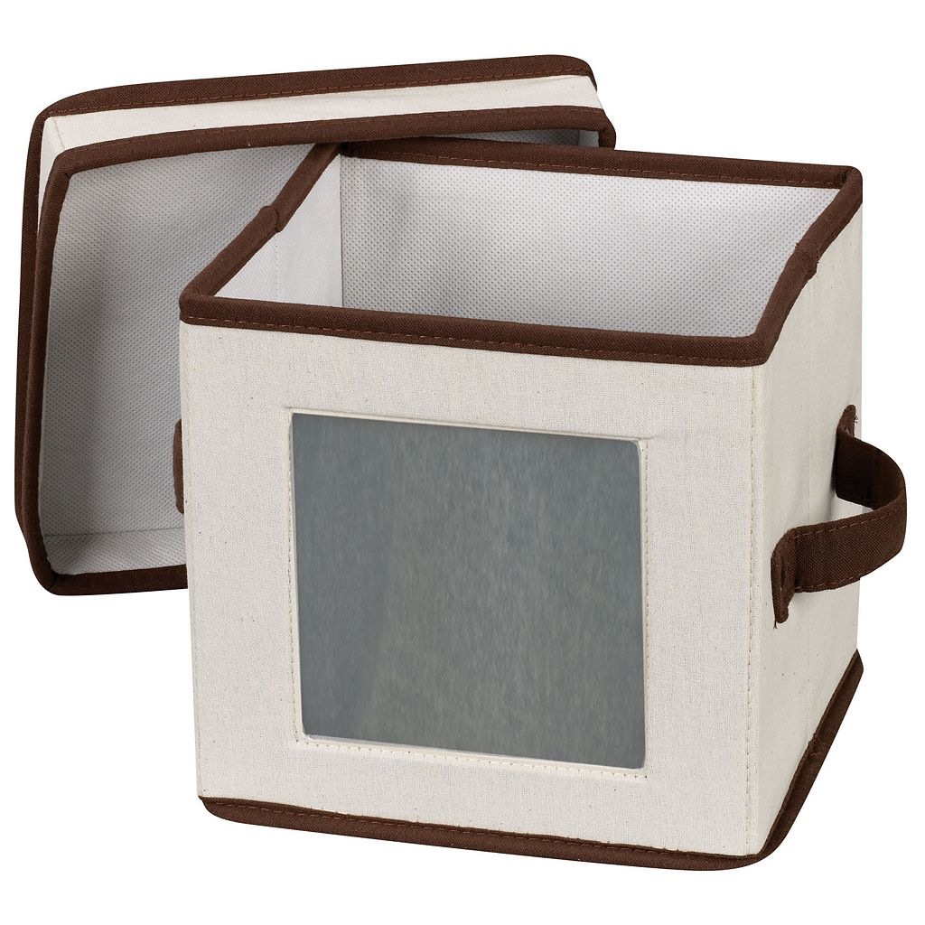 Household Essentials China Salad Plate and Bowl Lidded Storage Chest
