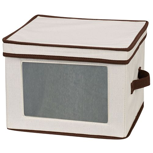 Household Essentials China Dinner Plate Lidded Storage Chest