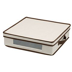 Household Essentials China Charger Plate Lidded Storage Chest