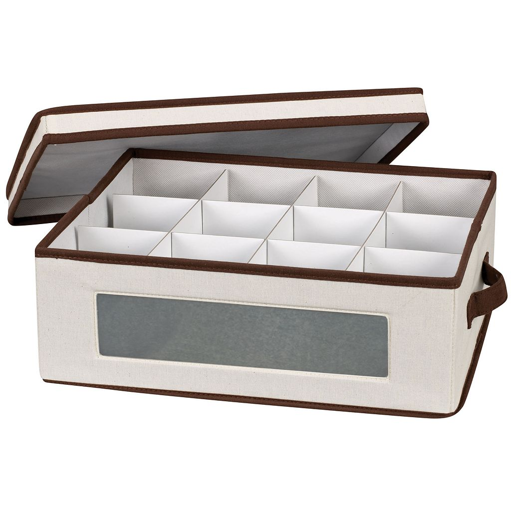 Household Essentials China Cup Lidded Storage Chest