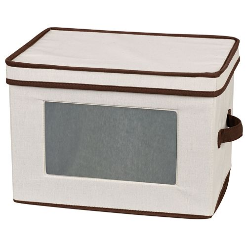 Household Essentials Fluted Glassware Lidded Storage Chest