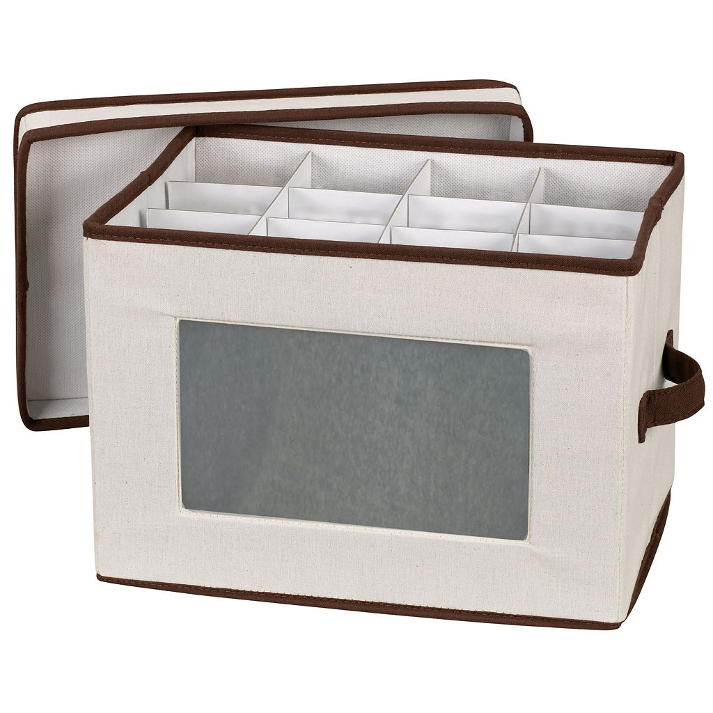 Household Essentials Flute Lidded Storage Chest