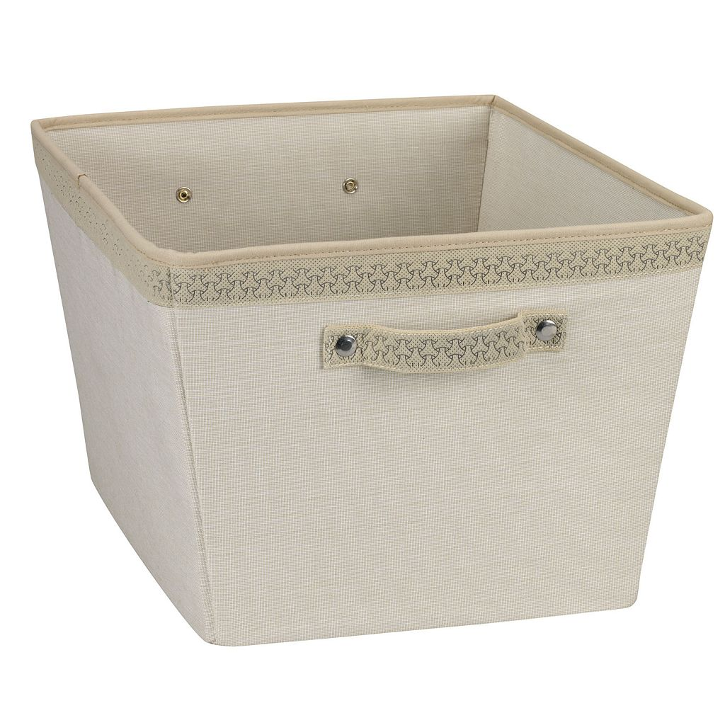 Household Essentials Large Open Tapered Storage Bin