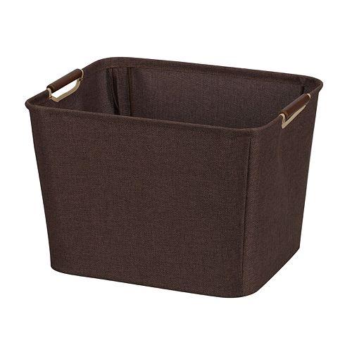 Household Essentials Brown Medium Open Tapered Storage Bin