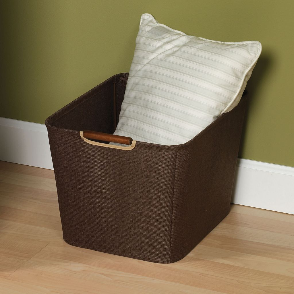 Household Essentials Brown Medium Open Tapered Storage Bin