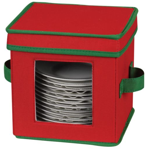 Household Essentials Holiday Saucer Lidded Storage Chest