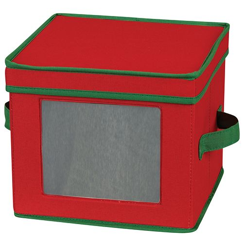 Household Essentials Holiday Salad Plate & Bowl Lidded Storage Chest