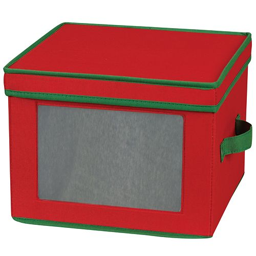 Household Essentials Holiday Dinner Plate Lidded Storage Chest